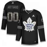 Wholesale Cheap Men's Adidas Maple Leafs Personalized Authentic Black Classic NHL Jersey