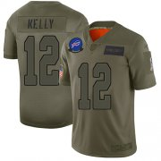 Wholesale Cheap Nike Bills #12 Jim Kelly Camo Men's Stitched NFL Limited 2019 Salute To Service Jersey