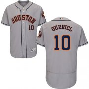 Wholesale Cheap Astros #10 Yuli Gurriel Grey Flexbase Authentic Collection Stitched MLB Jersey