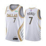 Wholesale Cheap Nike Mavericks #7 Dwight Powell White NBA Swingman 2020-21 City Edition Jersey