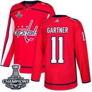 Wholesale Cheap Adidas Capitals #11 Mike Gartner Red Home Authentic Stanley Cup Final Champions Stitched NHL Jersey