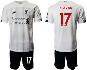 Wholesale Cheap Liverpool #17 Klavan Away Soccer Club Jersey