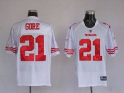 Wholesale Cheap 49ers Frank Gore #21 Stitched White NFL Jersey