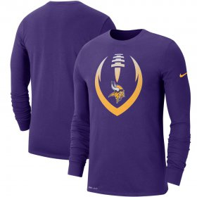 Wholesale Cheap Minnesota Vikings Nike Fan Gear Modern Icon Performance Long Sleeve T-Shirt Purple