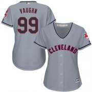 Wholesale Cheap Indians #99 Ricky Vaughn Grey Women's Road Stitched MLB Jersey