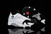 Wholesale Cheap Air Jordan 14 Kid Shoes White/black-red
