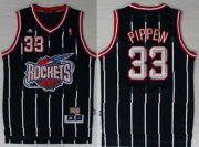 Wholesale Cheap Houston Rockets #33 Scottie Pippen ABA Hardwood Classic Swingman Navy Blue Jersey