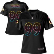 Wholesale Cheap Nike Redskins #99 Chase Young Black Women's NFL Fashion Game Jersey
