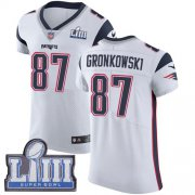 Wholesale Cheap Nike Patriots #87 Rob Gronkowski White Super Bowl LIII Bound Men's Stitched NFL Vapor Untouchable Elite Jersey