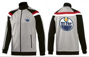 Wholesale NHL Edmonton Oilers Zip Jackets Grey