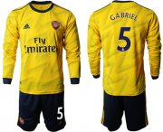 Wholesale Cheap Arsenal #5 Gabriel Away Long Sleeves Soccer Club Jersey