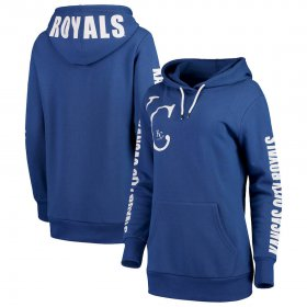 Wholesale Cheap Kansas City Royals G-III 4Her by Carl Banks Women\'s 12th Inning Pullover Hoodie Royal