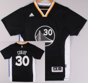 Wholesale Cheap Golden State Warriors #30 Stephen Curry Revolution 30 Swingman 2014 New Black Short-Sleeved Jersey