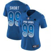Wholesale Cheap Nike Panthers #99 Kawann Short Royal Women's Stitched NFL Limited NFC 2019 Pro Bowl Jersey