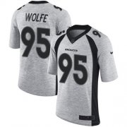 Wholesale Cheap Nike Broncos #95 Derek Wolfe Gray Men's Stitched NFL Limited Gridiron Gray II Jersey