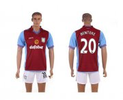 Wholesale Cheap Aston Villa #20 Benteke Red Home Soccer Club Jersey