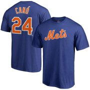 Wholesale Cheap New York Mets #24 Robinson Cano Majestic Official Name & Number T-Shirt Royal