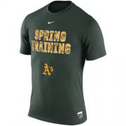 Wholesale Cheap Oakland Athletics Nike 2016 Authentic Collection Legend Team Issue Spring Training Performance T-Shirt Green