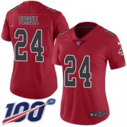 Wholesale Cheap Nike Falcons #24 A.J. Terrell Red Women's Stitched NFL Limited Rush 100th Season Jersey