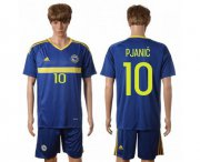 Wholesale Cheap Bosnia Herzegovina #10 Pjanic Home Soccer Country Jersey