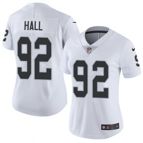 Wholesale Cheap Nike Raiders #92 P.J. Hall White Women\'s Stitched NFL Vapor Untouchable Limited Jersey