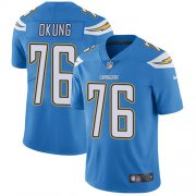 Wholesale Cheap Nike Chargers #76 Russell Okung Electric Blue Alternate Men's Stitched NFL Vapor Untouchable Limited Jersey