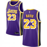 Cheap Youth Lakers #23 Anthony Davis Purple Basketball Swingman Statement Edition Jersey