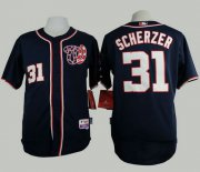 Wholesale Cheap Nationals #31 Max Scherzer Navy Blue Cool Base Stitched MLB Jersey