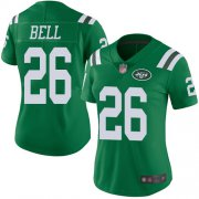 Wholesale Cheap Nike Jets #26 Le'Veon Bell Green Women's Stitched NFL Limited Rush Jersey