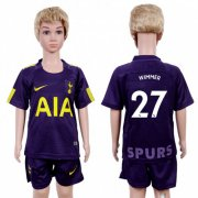Wholesale Cheap Tottenham Hotspur #27 Wimmer Sec Away Kid Soccer Club Jersey