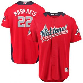 Wholesale Cheap Braves #22 Nick Markakis Red 2018 All-Star National League Stitched MLB Jersey