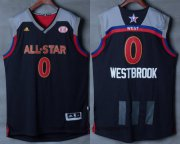 Wholesale Cheap Men's Western Conference Oklahoma City Thunder #0 Russell Westbrook adidas Black Charcoal 2017 NBA All-Star Game Swingman Jersey