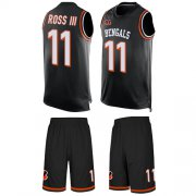 Wholesale Cheap Nike Bengals #11 John Ross III Black Team Color Men's Stitched NFL Limited Tank Top Suit Jersey
