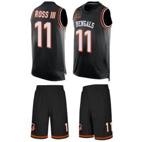Wholesale Cheap Nike Bengals #11 John Ross III Black Team Color Men\'s Stitched NFL Limited Tank Top Suit Jersey