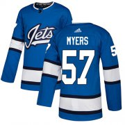 Wholesale Cheap Adidas Jets #57 Tyler Myers Blue Alternate Authentic Stitched NHL Jersey