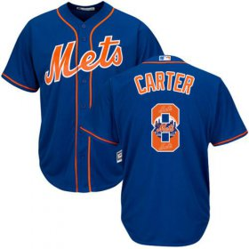 Wholesale Cheap Mets #8 Gary Carter Blue Team Logo Fashion Stitched MLB Jersey