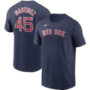 Wholesale Cheap Boston Red Sox #45 Pedro Martinez Nike Cooperstown Collection Name & Number T-Shirt Navy