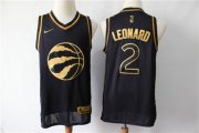 Wholesale Cheap Raptors 2 Kawhi Leonard Black Gold Nike Swingman Jersey