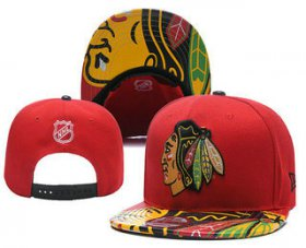 Wholesale Cheap Chicago Blackhawks Snapback Ajustable Cap Hat YD