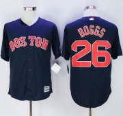 Wholesale Cheap Red Sox #26 Wade Boggs Navy Blue New Cool Base Stitched MLB Jersey