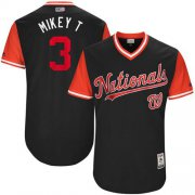 "Wholesale Cheap Nationals #3 Michael Taylor Navy ""Mikey T"" Players Weekend Authentic Stitched MLB Jersey"