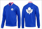 Wholesale NHL Toronto Maple Leafs Zip Jackets Blue-1
