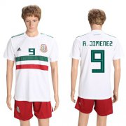 Wholesale Cheap Mexico #9 R.Jimenez Away Soccer Country Jersey