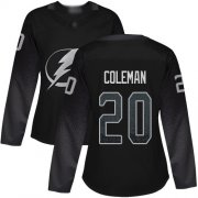 Cheap Adidas Lightning #20 Blake Coleman Black Alternate Authentic Women's Stitched NHL Jersey