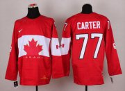 Wholesale Cheap Olympic 2014 CA. #77 Jeff Carter Red Stitched NHL Jersey
