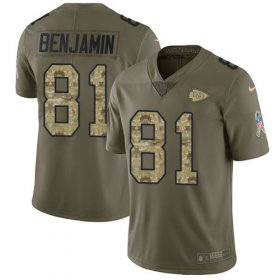 Wholesale Cheap Nike Chiefs #81 Kelvin Benjamin Olive/Camo Men\'s Stitched NFL Limited 2017 Salute To Service Jersey