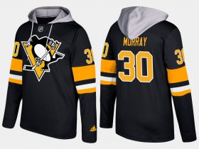 Wholesale Cheap Penguins #30 Matt Murray Black Name And Number Hoodie