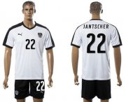 Wholesale Cheap Austria #22 Jantscher White Away Soccer Country Jersey