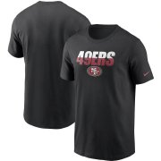 Wholesale Cheap San Francisco 49ers Nike Split T-Shirt Black