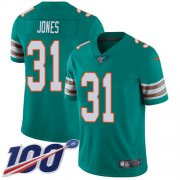 Wholesale Cheap Nike Dolphins #31 Byron Jones Aqua Green Alternate Men's Stitched NFL 100th Season Vapor Untouchable Limited Jersey